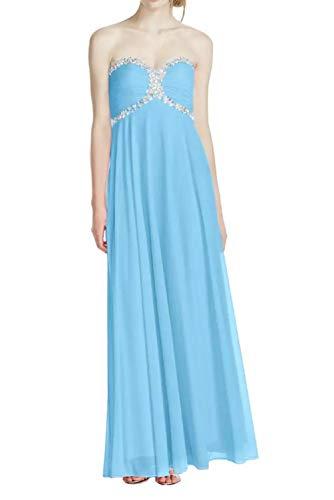 Elegant Braut Bodenlang Marie Herzausschnitt Rock Festlich Promkleider Abendkleider Pailletten La Abiballkleider Blau Linie A REqH8x
