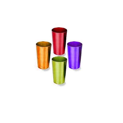 RETRO ALUMINUM TUMBLERS (SET OF 4)