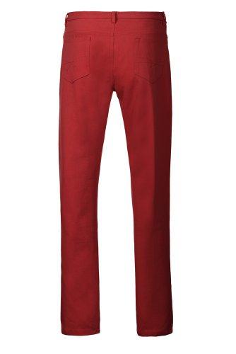 Alexanders of LondonHerren Jeanshose, Einfarbig Rot Brick