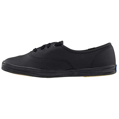 Keds Women's Champion Black/Black Leather Shoes Wide Width women's 12 by Keds (Image #4)