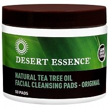- Desert Essence Natural Tea Tree Oil Facial Cleansing Pads Original (Pack of 3 (50 Pads))