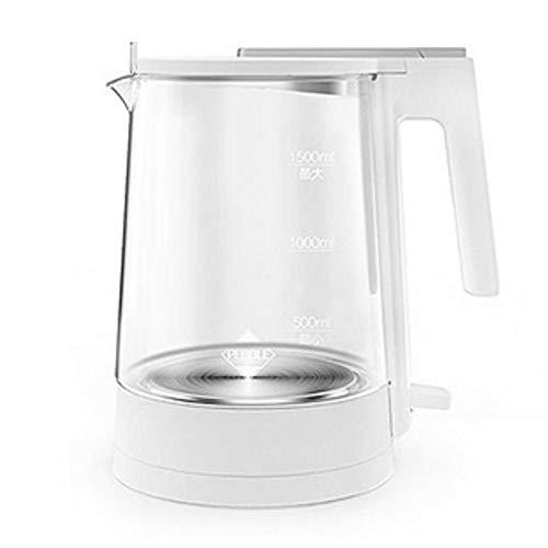 HANSHAN 電気ケトル ガラスケトル ステンレス電気ケトル オシャレ ケトル 電気ポット 湯沸かし器 大容量給湯 自動シャットダウン沸騰 1.5L容量 電気ポット 湯沸かし器