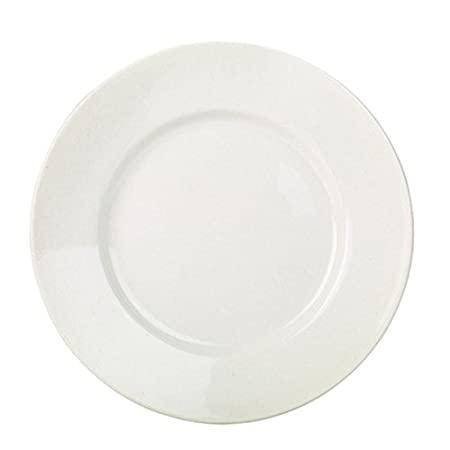 RG Tableware Wide Rim Plate 23cm - Set of 6 - Affordable 9 Inch White Porcelain  sc 1 st  Amazon UK : 9 inch dinner plate set - pezcame.com