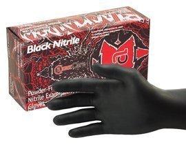 Black Widow Black Nitrile Exam Gloves Medium