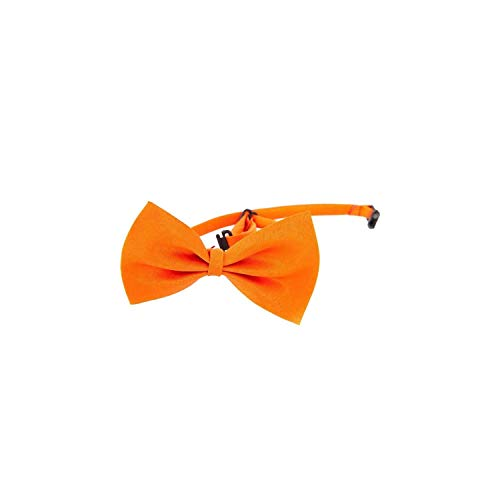 (Casual-Life Wholesale Dog Ties Pet Grooming Accessories Rabbit Cat Dogs Bow Tie Adjustable Bowtie Multicolor Polyester Ribbon Necktie,Orange)