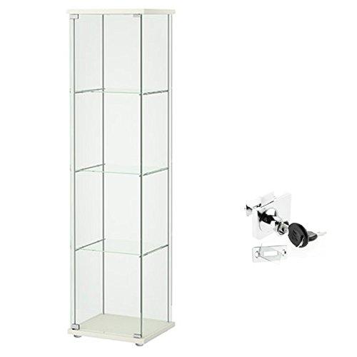 Ikea Detolf Glas Curio Vitrine Weiß Abschließbar Schloss Ist Im