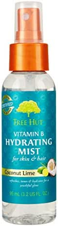 Tree Hut Vitamin B Hydrating Mist Coconut Lime, 3.2oz, Ultra Hydrating Vitamin Enriched Mist for Nourishing Essential Body Care