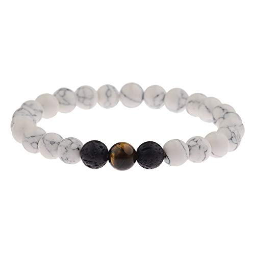 Mikash His and Her Natural Stone Agate Charm King Queen Bracelets Couples Bracelets Set | Model BRCLT - 7282 |