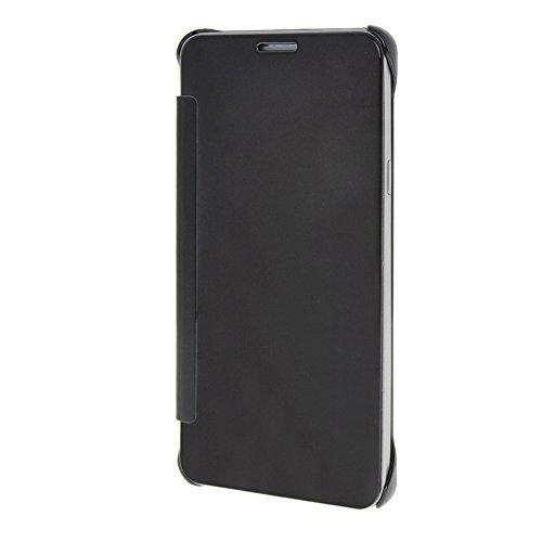 MEIRISHUN Caja del Teléfono Celular Caso Funda ,la alta calidad de Protective Plastic Back Cubrir ContraportadaFlip Case As a Mirror para Samsung Galaxy Note5 [Marrón] Marrón