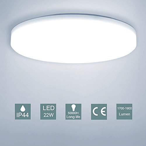 LED Lámpara de Techo,Moderna Plafón Led de Techo Redonda Ultra Delgado Φ30 cm IP44 Impermeable 1900LM 5500K Baño Pasillo Cocina LED Plafón para ...