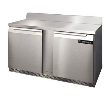 Continental Refrigerator SW60-BS-FB Front Breather Work Top Refrigerator, 60'' Wide, Two-Section,
