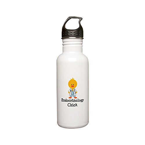 CafePress - Endocrinology Chick Stainless Water Bottle 0 - Stainless Steel Water Bottle, 0.6L Sports Bottle