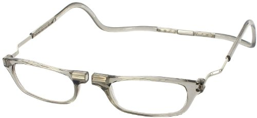 CliC XXL Adjustable Front Magnetic Connect Expandable Reading Glasses; Smoke