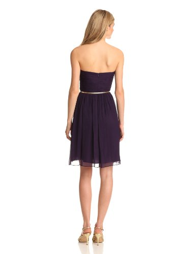 Strapless Donna Belted Dress Morgan Amethyst Women's Chiffon rrqw4vFEna