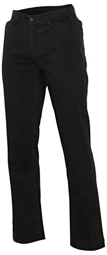 (RALPH LAUREN Polo Mens Classic-Fit Flat-Front Chino Pants (Polo Black, 32x32))