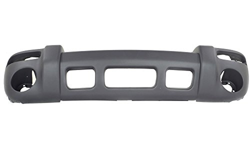 New Evan-Fischer EVA17872026876 Front BUMPER COVER Textured Direct Fit OE REPLACEMENT for 2002-2004 Jeep LibertyReplaces Partslink CH1000367 (2002 Bumper)