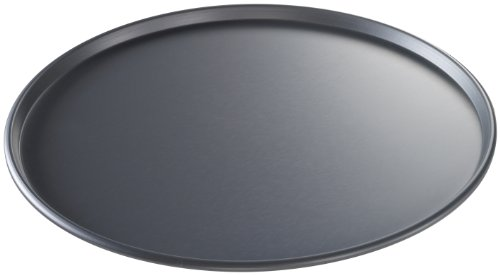USA Pan Bakeware Aluminized Steel 14-Inch Thin Crust Hard Anodized Pizza Pan, Made in the USA