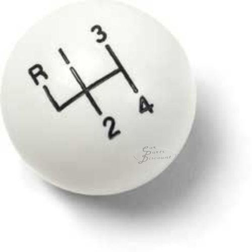 White 4 Speed Shift Knob for Hurst and Other 3/8-16 Thread Shifters (16 Thread Shifter Knobs)
