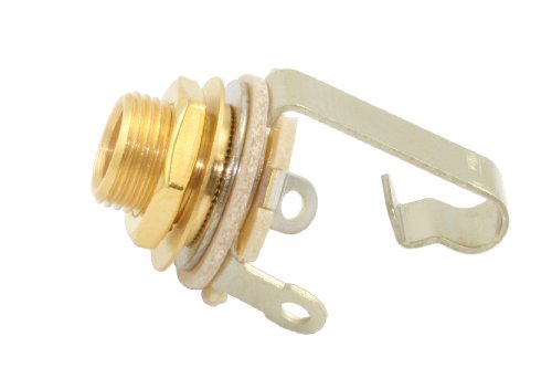 Amp Guitar Jack Input - Switchcraft 11 Gold 1/4-Inch Electric Guitar Input Jack