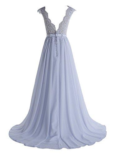 Beyonddress Sin mujer 46 para mangas azul trapecio Vestido T4x8rT