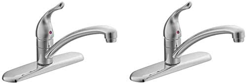 Moen 7425 Chateau One-Handle Low Arc Kitchen Faucet, Chrome Pack of 2