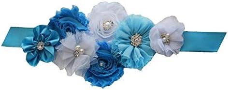 Wedding Bridal Belt Sash Maternity Flower Sash Floral Belt for Dress PTK16-A