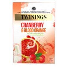 Twinings - Cranberry & Blood Orange - 20 Tea Bags - 40g