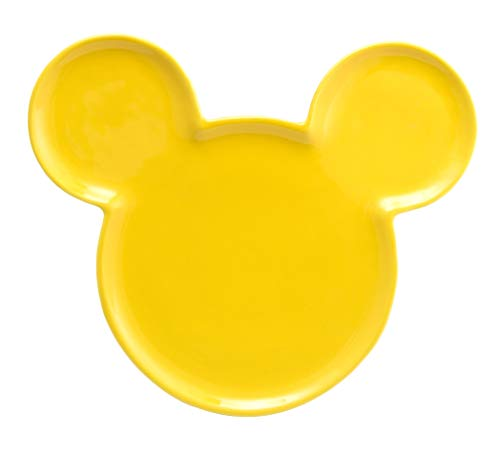 Joy Toy 62133Mickey Mouse Ears Ceramic Plate–Yellow