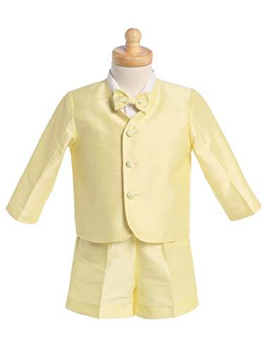 - Yellow Boys Poly Silk Eton Jacket & Shorts (Yellow, 3T)