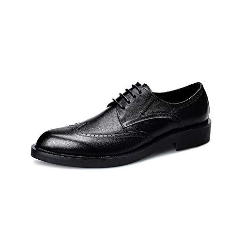 ZQZQ Uomo Business Inghilterra Abbigliamento Formale Resistente all'Usura Antiscivolo,Black-37