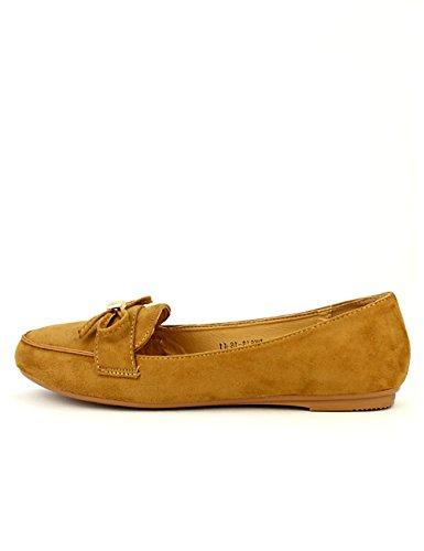 Cendriyon Mocassin Simili Peau Camel CINKS Chaussures Femme Caramel qCTTYO