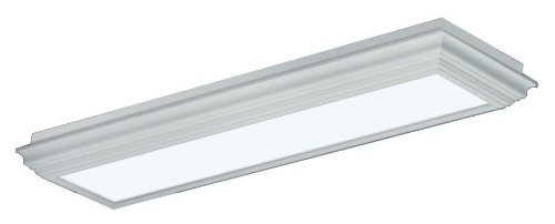 (Lighting by AFX WCM232R8 Winchester Crown Molding Wood Frame 2-Lamp Fixture, White Finish with Smooth White Acrylic Diffuser)