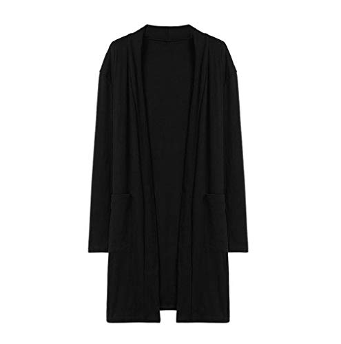 Soiree Noir Pull Manches Cardigans Gilet Ouverts Lâche À Veste Fnkdor Avant Automne De Respirants Longues Chic Femmes vpqxOOXwa