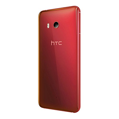 HTC U11 (U-3u) 4GB / 64GB 5.5-inches 4G LTE Dual SIM Factory Unlocked - International Stock No Warranty (Solar Red)