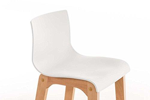 Clp sgabello di design hoover in polipropilene e legno naturale
