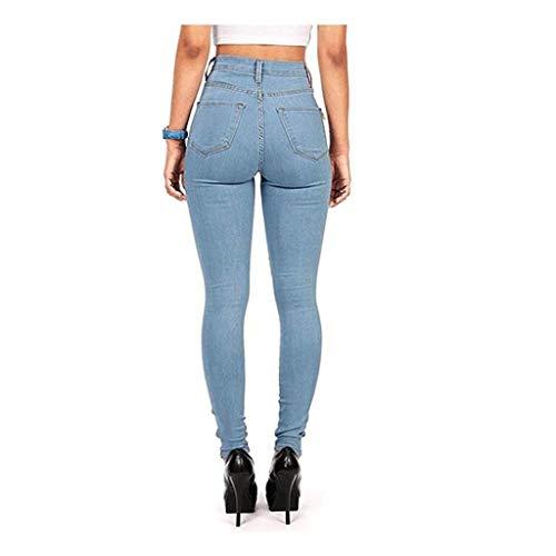 Aderenti Slim Vita A Pantaloni Alta E Donna 4 Da Rxf CqwH568
