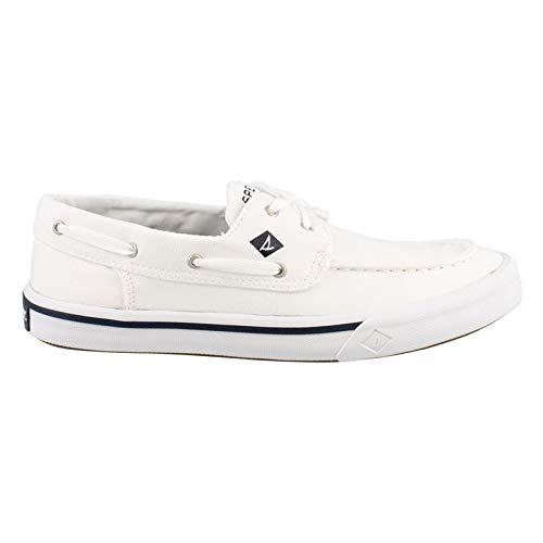 SPERRY Men's Bahama II Boat Washed Sneaker, White, 12