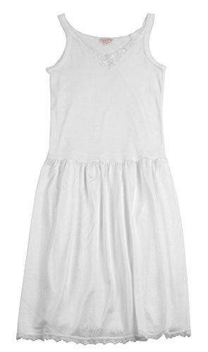Coral Kids Cotton/Poly V Neck Non Cling Girls Full Slip (4, - Slip Girls