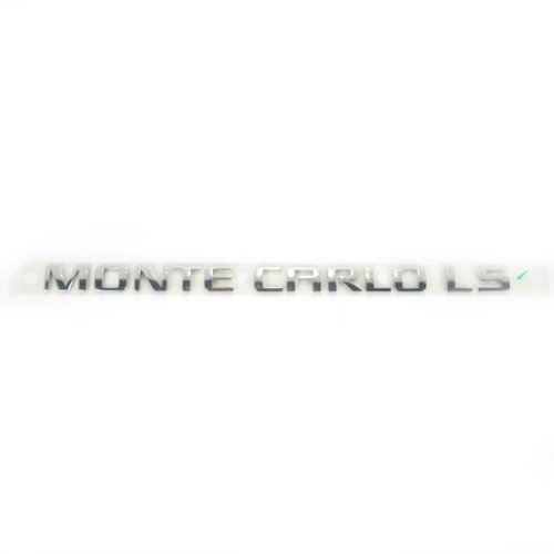 [Genuine Chrome Monte Carlo LS Emblem Decal Logo 11.5 Inch By 1 Inch 15885698] (Monte Carlo Decal)