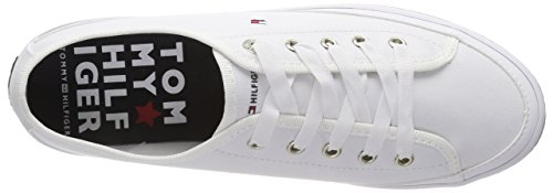 Tommy EU White Sneaker Blanc Flatform Corporate Sneakers Femme 36 Hilfiger 100 Basses 4wUr4