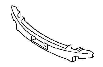 Front Genuine Kia 86520-1M300 Bumper Extension Absorber