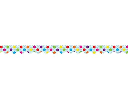 amazon com teacher created resources multicolor polka dots border
