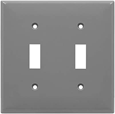 Enerlites Toggle Light Switch Wall Plate Size 2 Gang 4 50 X 4 57 Unbreakable Polycarbonate Thermoplastic 8812 Gr Gray Amazon Com Home Improvement