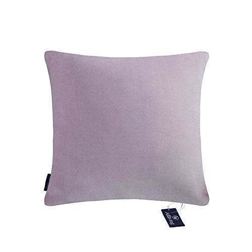 Aitliving Decorative Pillow Covers 20x20 inches Handmade Cotton Velvet Dusk Lilac with Cotton Linen Reverse Throw Pillow Cover Soft Classy Looking 1 PC 50x50cm Lilac Mauve