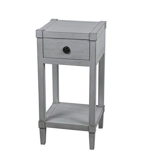 Privilege 28419 1 Draw Accent Smoke Ash Table -