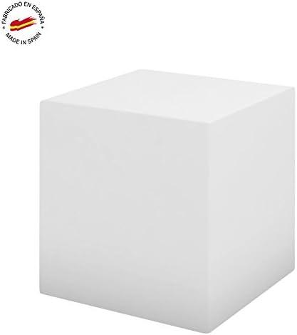 Cubo 43cm - Asiento / Mesa - Color Blanco: Amazon.es: Jardín