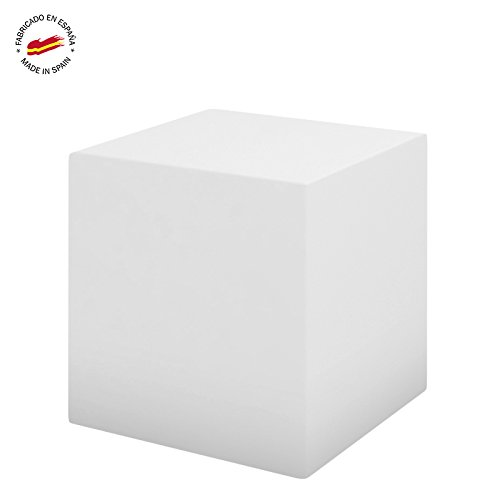 Cubo 43cm - Asiento / Mesa - Color Blanco