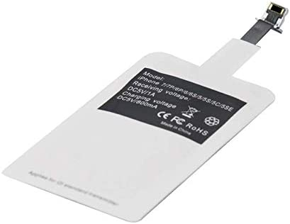 For iphone 6 plus 7 plus Wireless Charger Receiver Ultra-thin Qi Standard Wireless Charging Receiver Patch Module for iphone 5 5S 5C 6 6S 7 Universal Receiver White Color