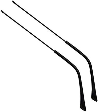 1ペアヴィンテージメガネメタルフレームテンプルメガネ交換用アーム、ブラック