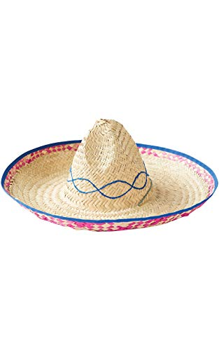 Rubie's Embroidered Straw Sombrero, Brown Assorted, One Size